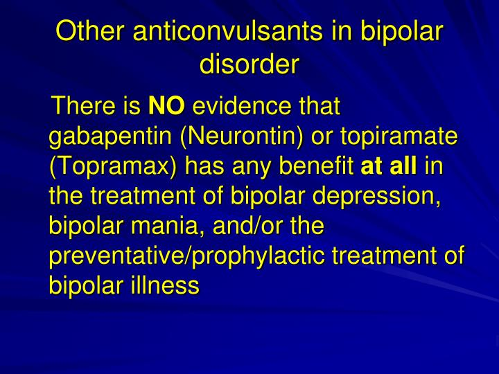 Other anticonvulsants in bipolar disorder