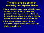 the relationship between creativity and bipolar illness