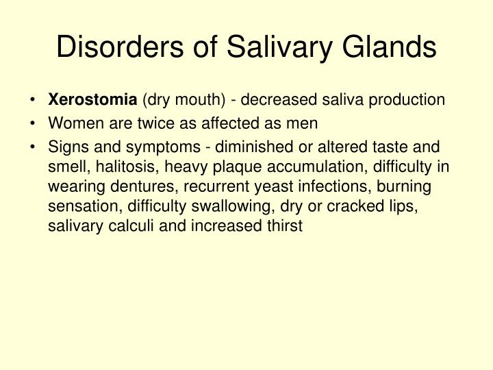 Disorders of Salivary Glands