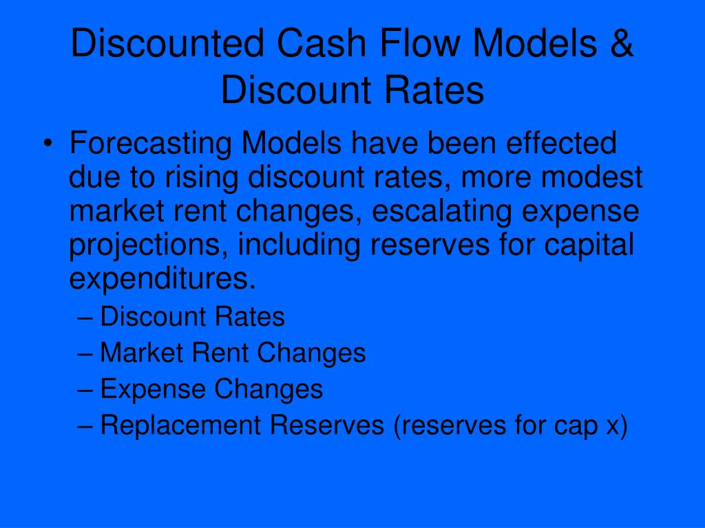 Discounted Cash Flow Models & Discount Rates