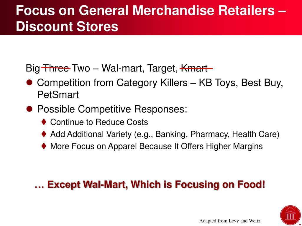 Focus on General Merchandise Retailers – Discount Stores
