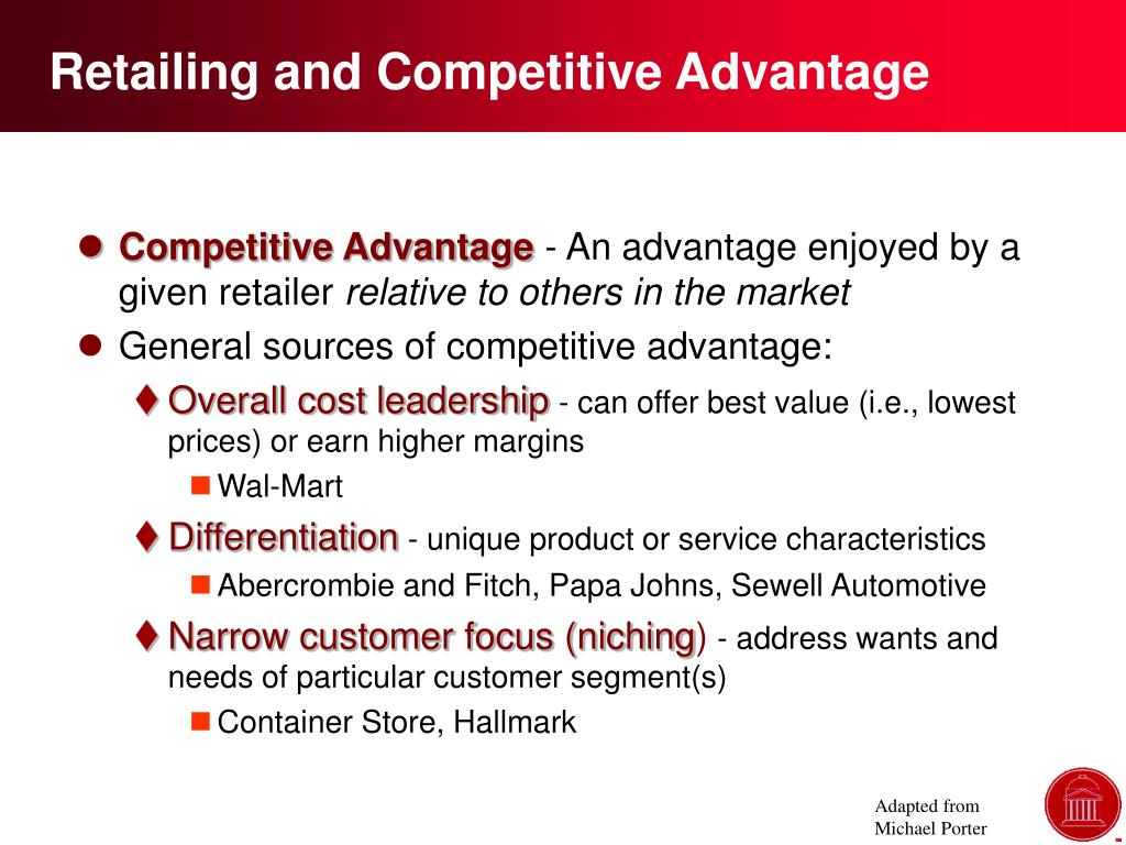 Retailing and Competitive Advantage