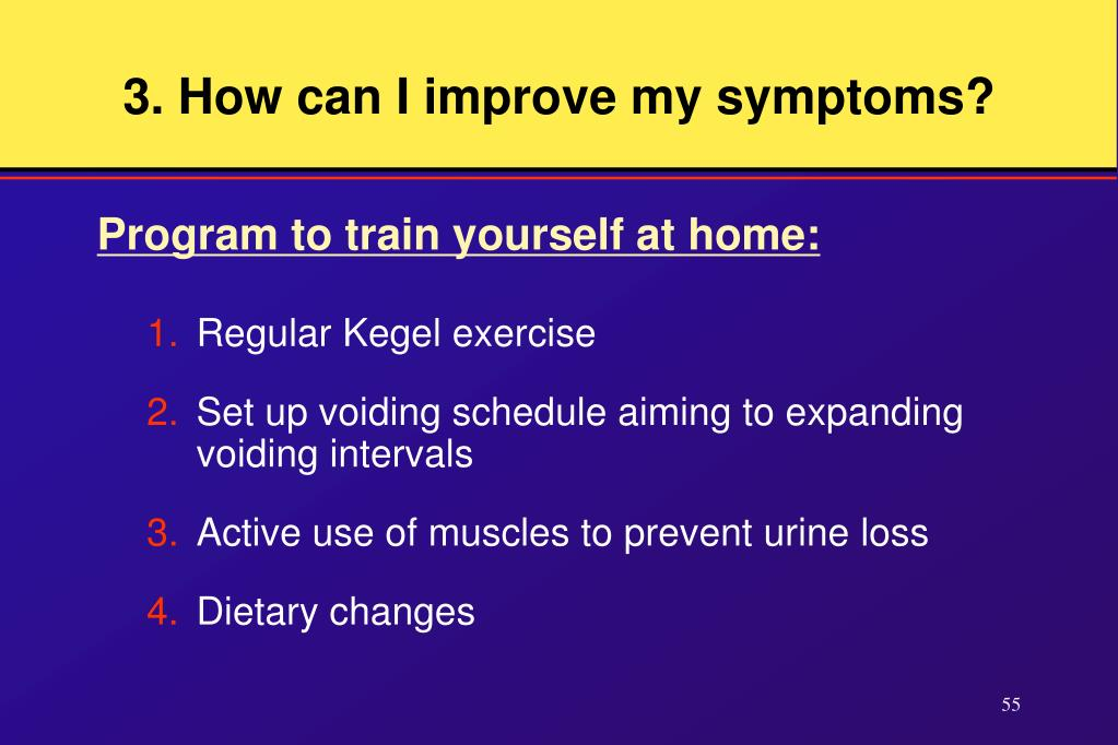 3. How can I improve my symptoms?