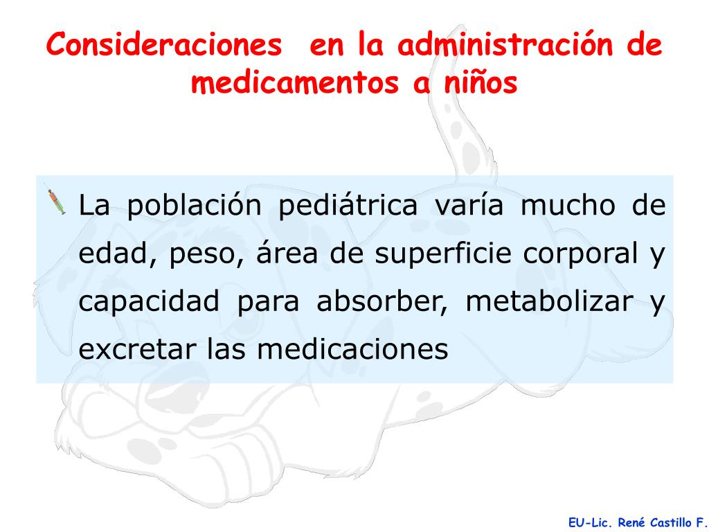 PPT - Consideraciones en la administración de medicamentos
