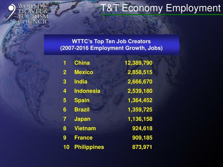 T&T Economy Employment