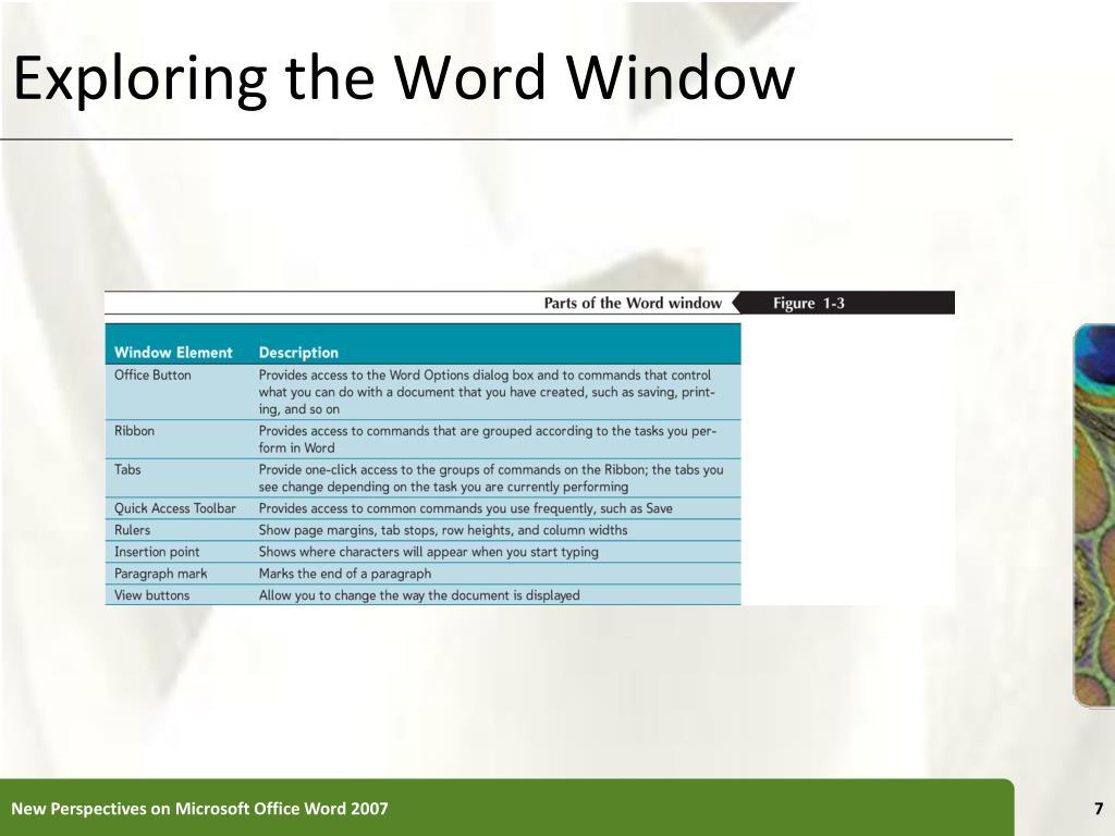 Exploring the Word Window