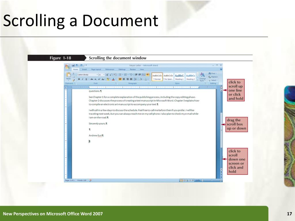 Scrolling a Document