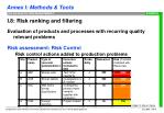 i 8 risk ranking and filtering8