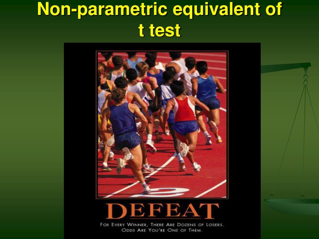 Non-parametric equivalent of