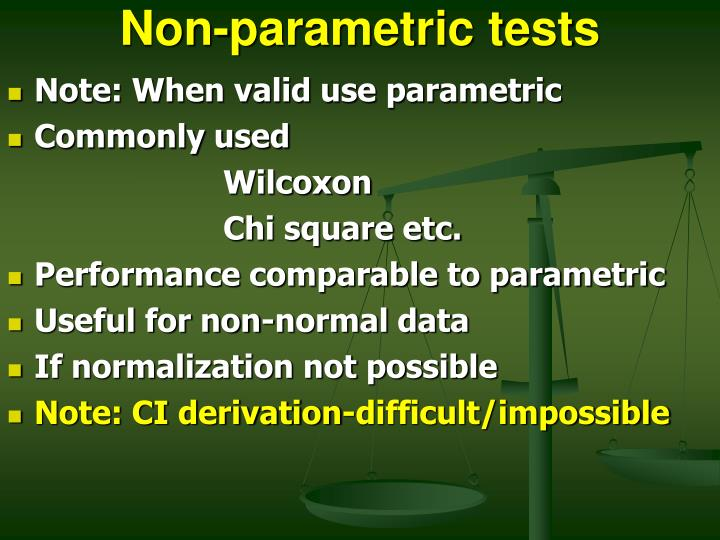 Non parametric tests