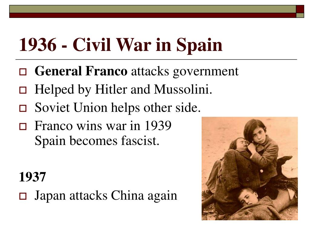 1936 - Civil War in Spain