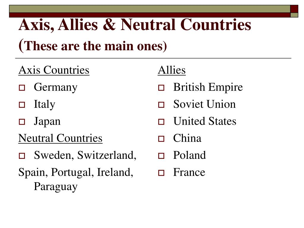 Axis Countries