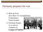 germany prepares for war