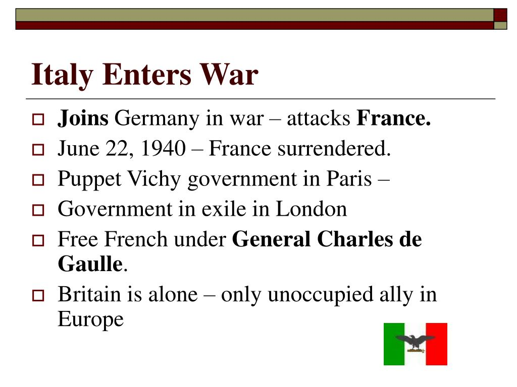 Italy Enters War