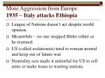 more aggression from europe 1935 italy attacks ethiopia