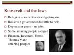 roosevelt and the jews