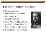 the dirty thirties germany