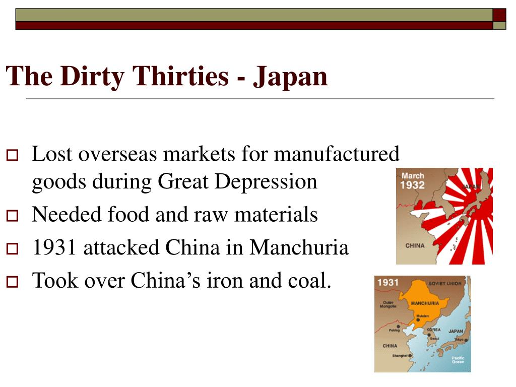 The Dirty Thirties - Japan