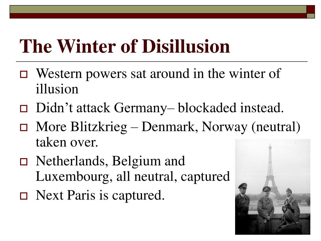 The Winter of Disillusion