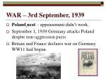 war 3rd september 1939