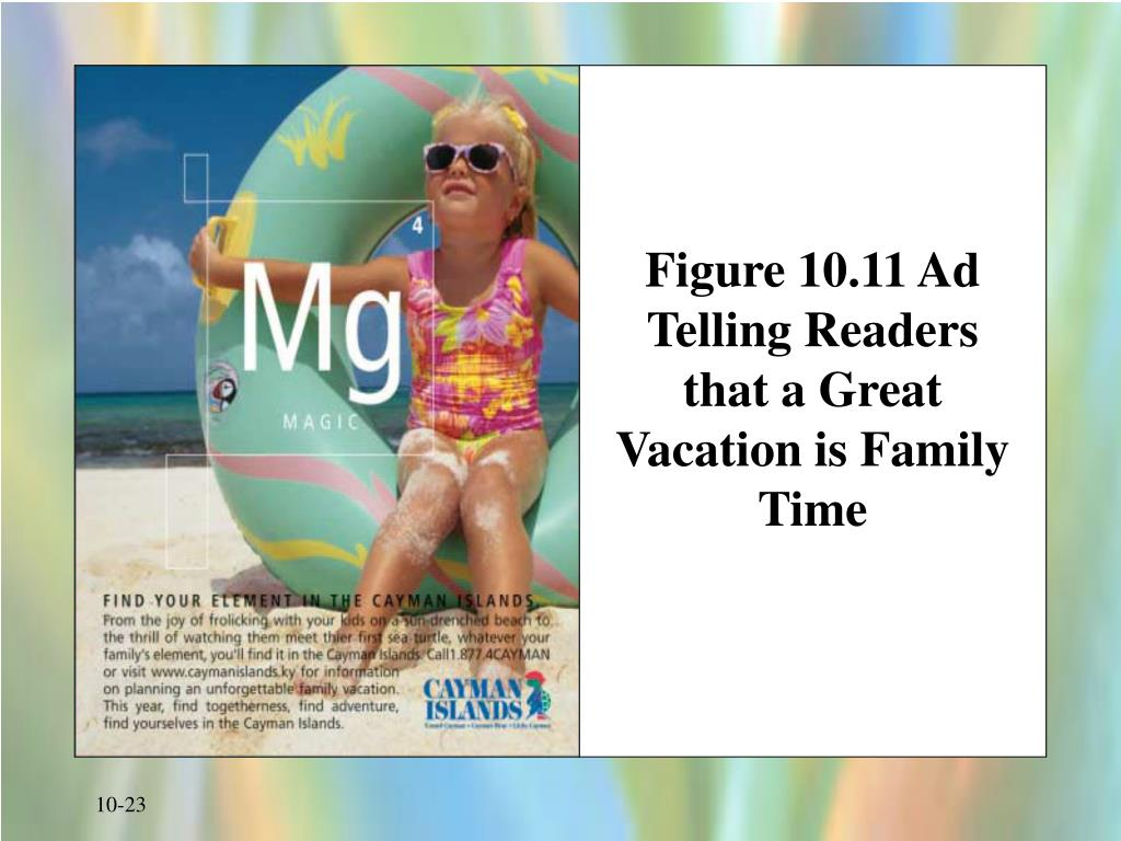 Figure 10.11 Ad Telling Readers that a Great Vacation is Family Time