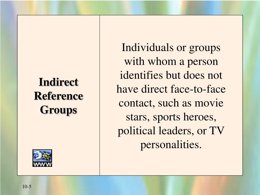 Indirect Reference Groups