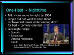 one host nighttime