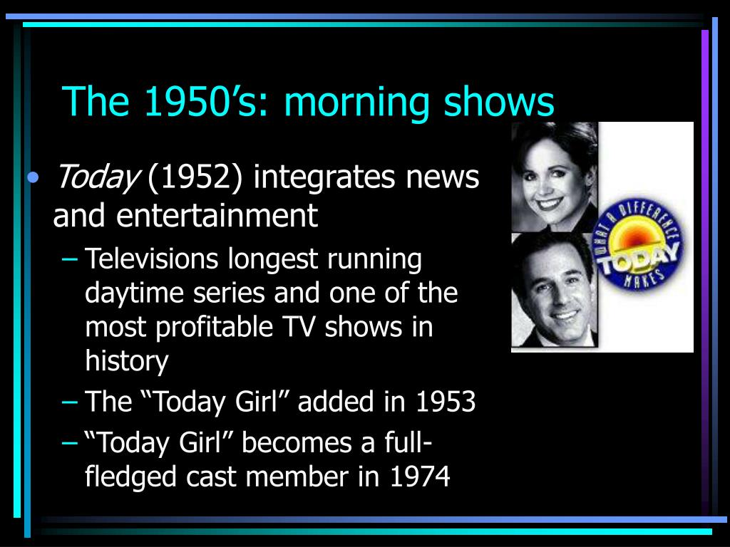 The 1950's: morning shows