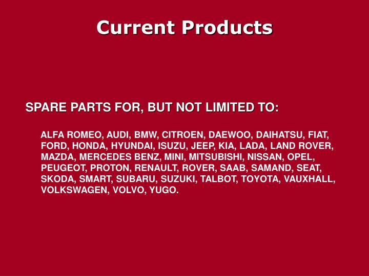 Current Products