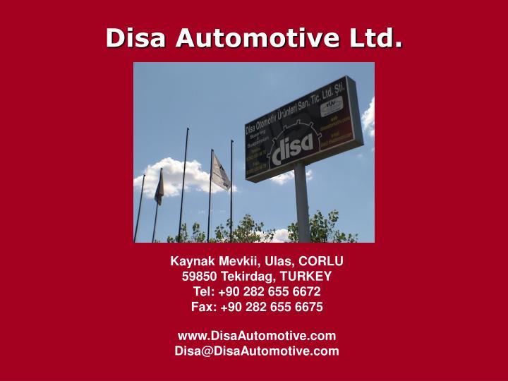Disa Automotive Ltd.