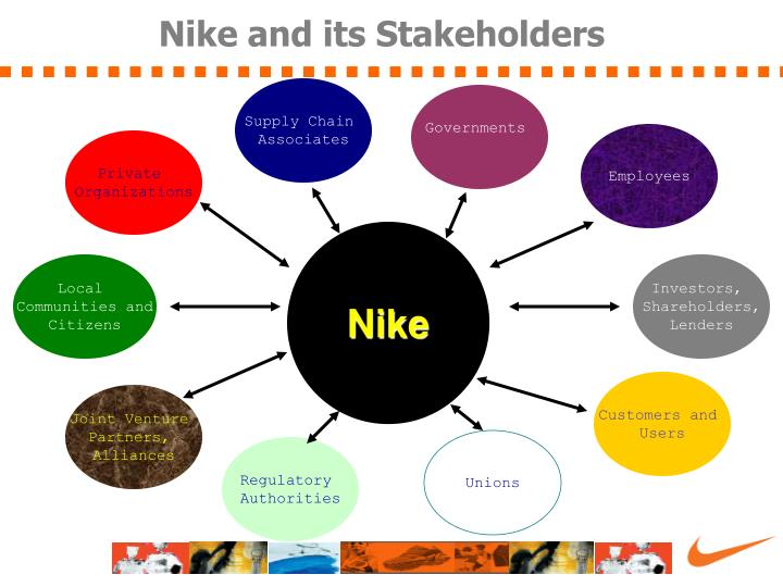nike stakeholder analysis Find our global supplier relationship manager job description for nike, inc   facilitate meetings with suppliers and internal nike stakeholders (eg project,   tools for communication and analysis, including ms powerpoint, excel and word.