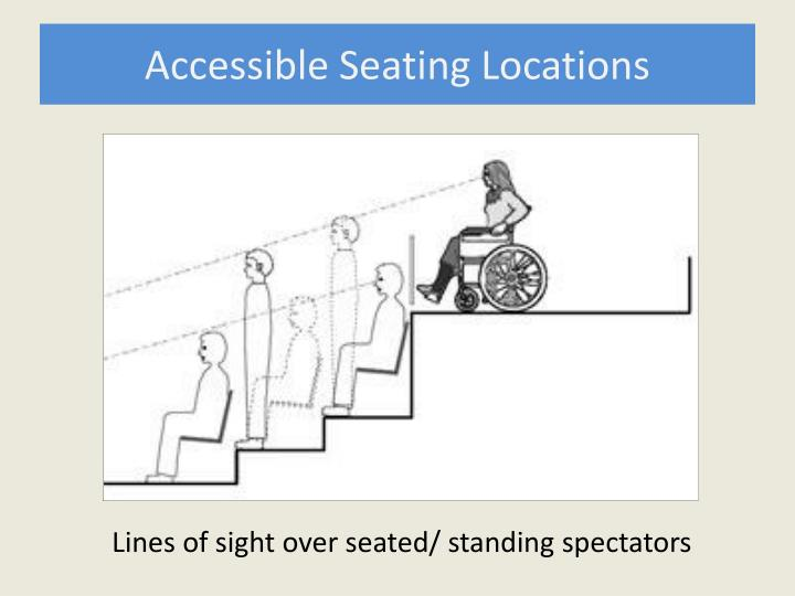 Accessible Seating Locations