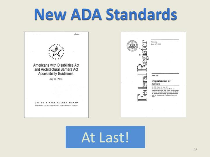 New ADA Standards
