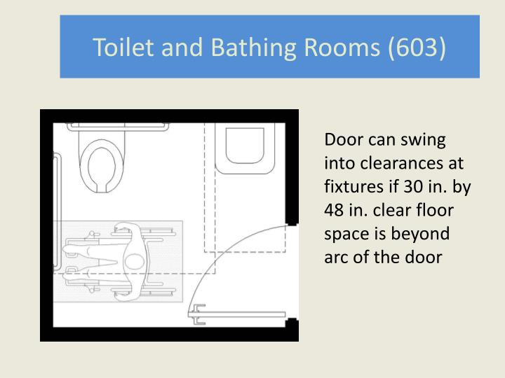 Toilet and Bathing Rooms (603)