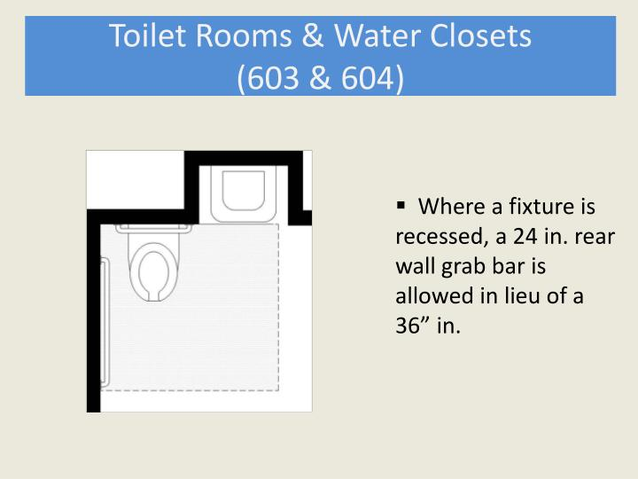Toilet Rooms & Water