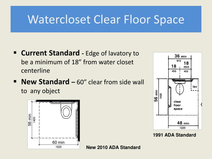Watercloset Clear Floor Space