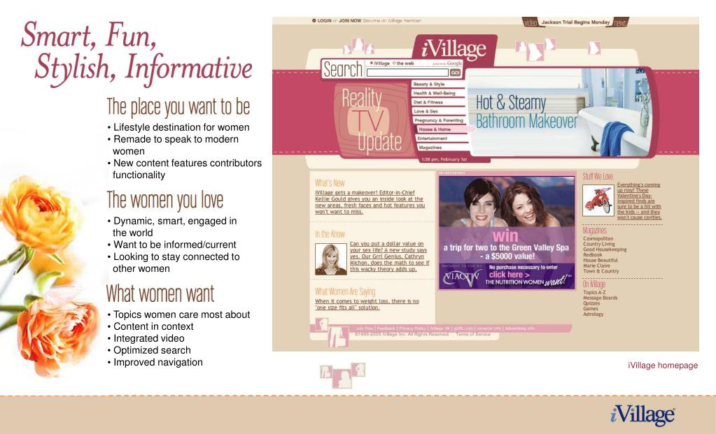 Lifestyle destination for women