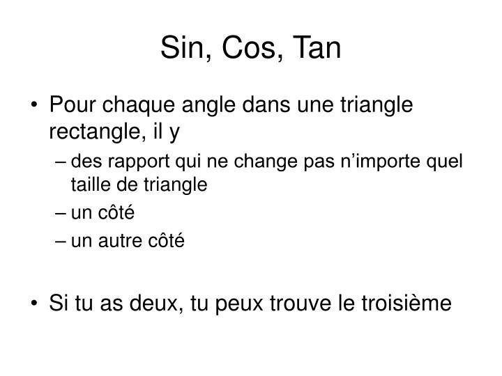 Sin, Cos, Tan