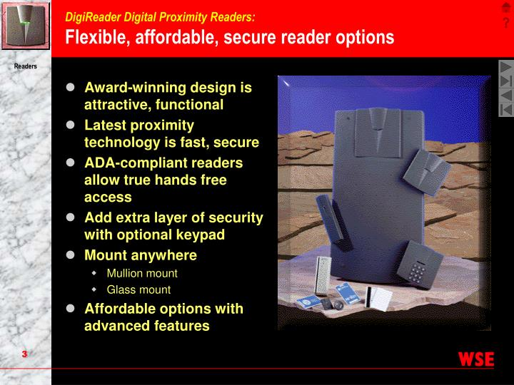 Digireader digital proximity readers flexible affordable secure reader options