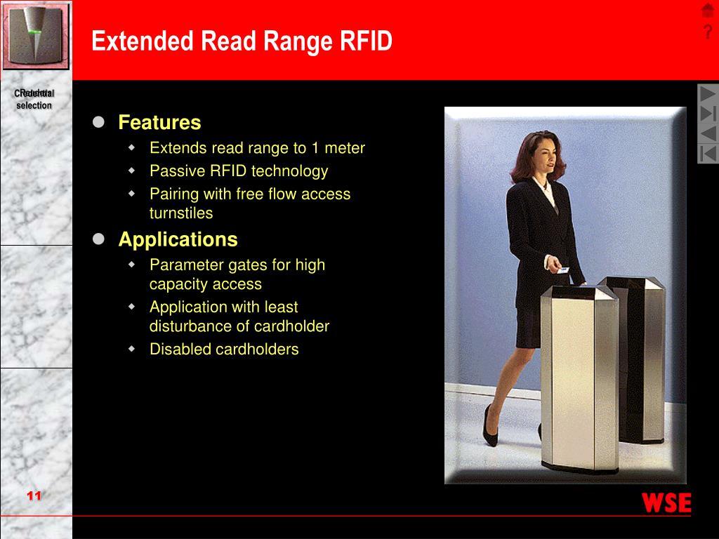 Extended Read Range RFID