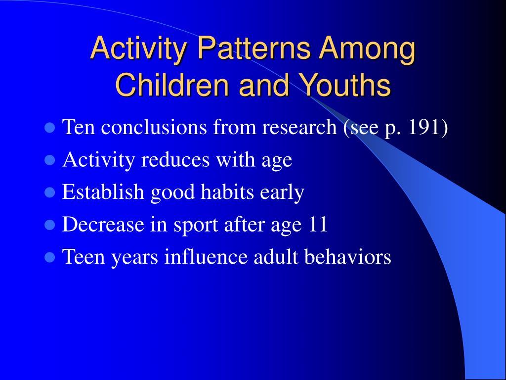Activity Patterns Among