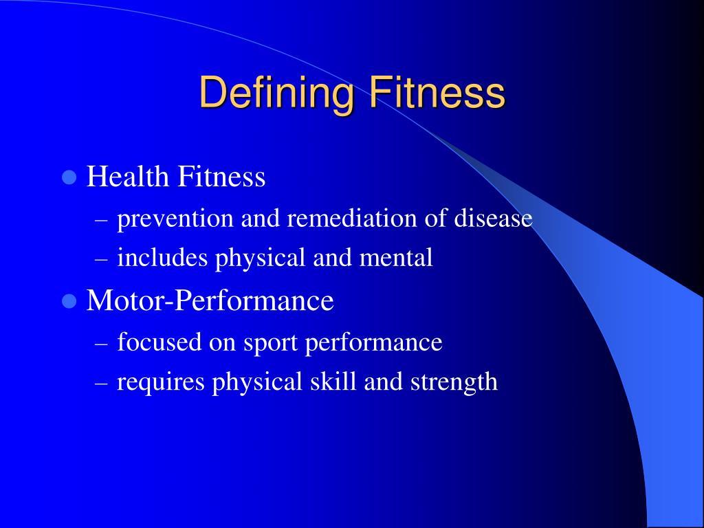 Defining Fitness