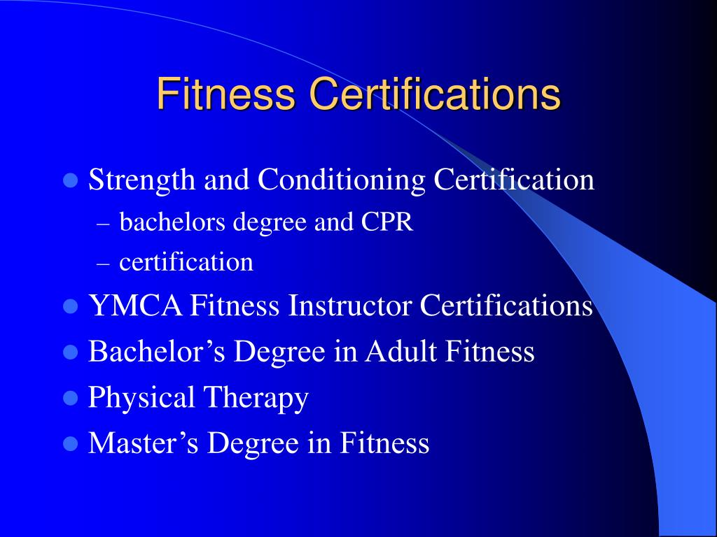 Fitness Certifications