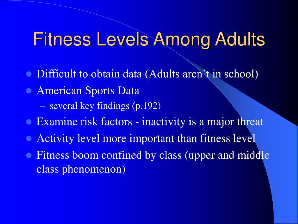 Fitness Levels Among Adults