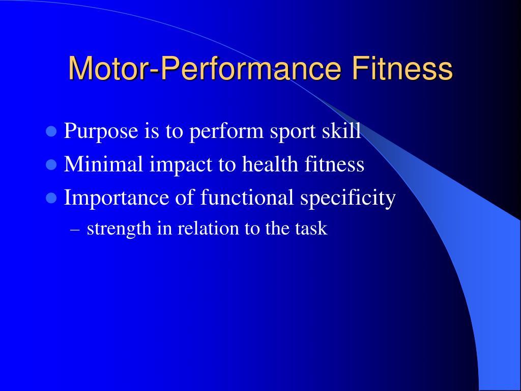 Motor-Performance Fitness