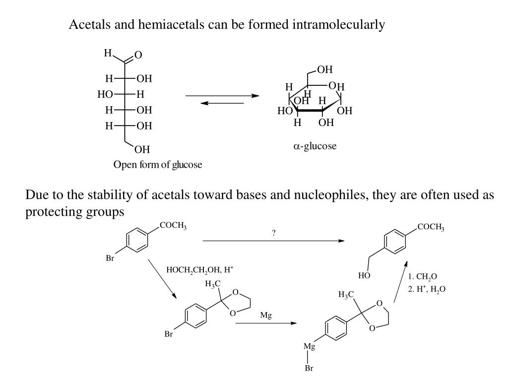 Acetals and hemiacetals can be formed intramolecularly