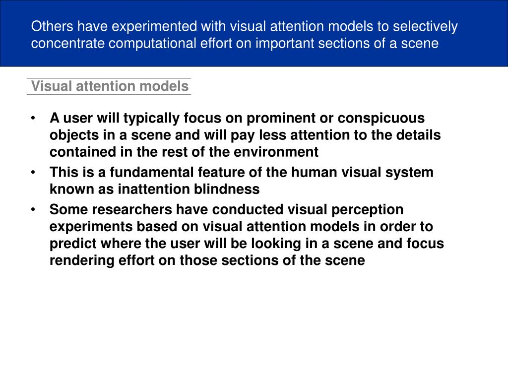 Visual attention models