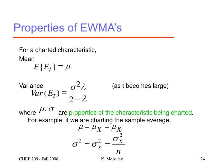 Properties of EWMA's