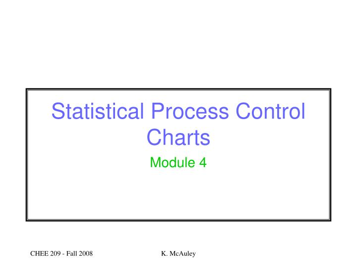 Statistical process control charts