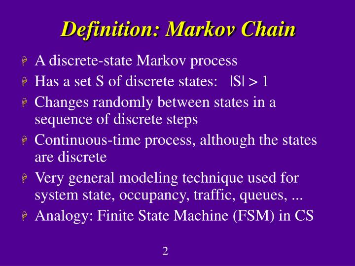 Definition markov chain